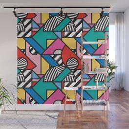 Colorful Memphis Modern Geometric Shapes - Tribal Kente African Aztec Wall Mural