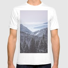 Mountain love White MEDIUM Mens Fitted Tee