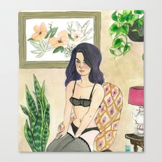 Margaret: Boudoir Girl Canvas Print