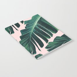 Tropical Blush Banana Leaves Dream #1 #decor #art #society6 Notebook