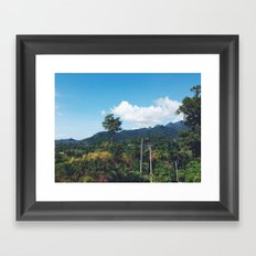Thinkin of U Framed Art Print