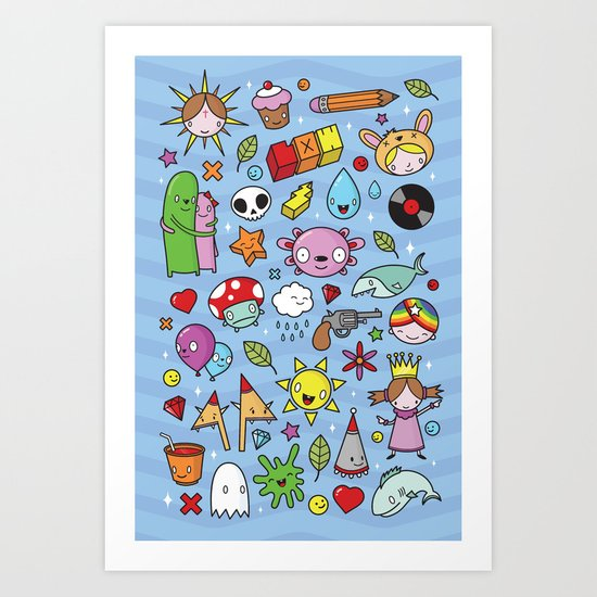 Everything is going to be OK #3 Art Print