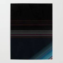 Black and Wine with Bright Blue Accent Poster