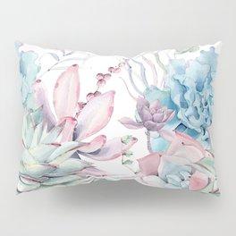 Pretty Pastel Succulents Garden 2 Pillow Sham