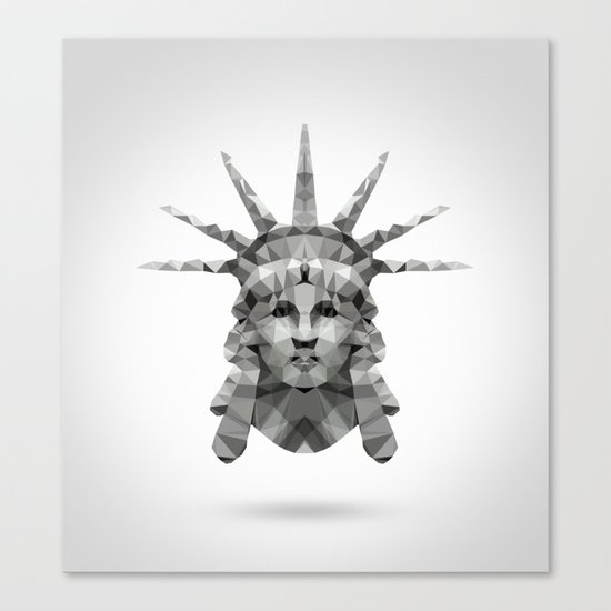 Polygon Heroes - Liberty Canvas Print