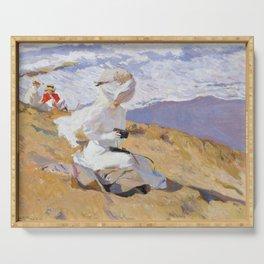 Joaquin Sorolla y Bastida - Capturing the moment, 1906 Serving Tray
