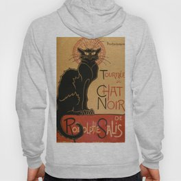 Le Chat Noir The Black Cat Poster by Théophile Steinlen Hoody