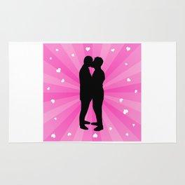Gay Couple Kissing Rug