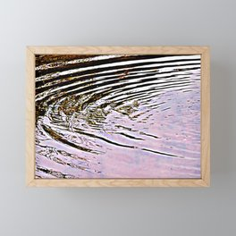 Pink Sky Reflected in Ripples Framed Mini Art Print