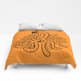 Tentacle One Eye Grouch Monster in Orange Comforters