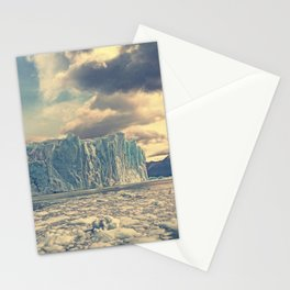 glacier blocks of ice mountain landscape rocks Argentino Lake Perito Moreno Glacier Argentina Los Glaciares National Park Patagonia Stationery Cards