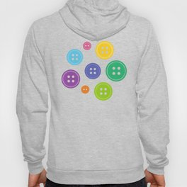 Colorful Rainbow Buttons Hoody