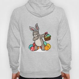 Dabbing Easter Sloth with Bunny Ears graphic Easter 2019 Gift Hoody