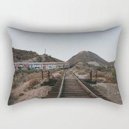 Derailed Train Rectangular Pillow