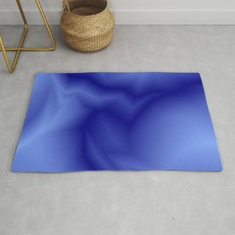 Pastel lines of blue lightning with a vintage gap. Rug