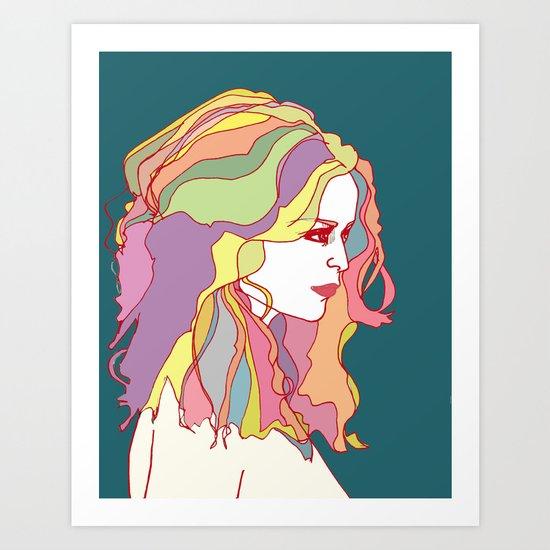 Big Hair day Art Print