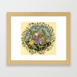 Sheltering The Little Folk Framed Art Print