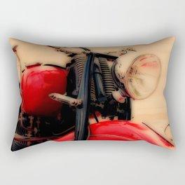 Motorcycle-Red-Poster Rectangular Pillow