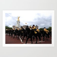 The Guards with their Horses 27 Art Print