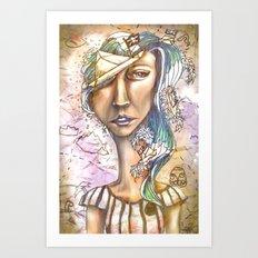 Paper Pirate Art Print