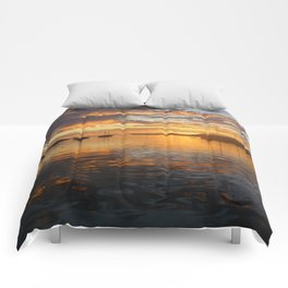 Sunrise on the Sea of Cortez. Comforters