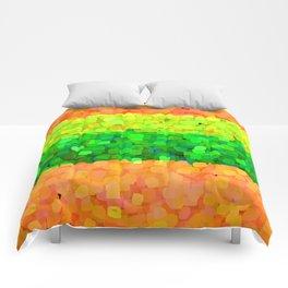 Sparkle Glitter Orange Comforters