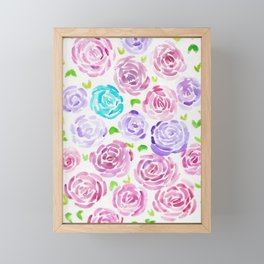 7  |  190411 Flower Abstract Watercolour Painting Framed Mini Art Print