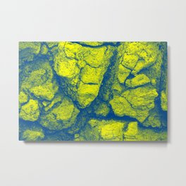 Abstract - in yellow & green Metal Print