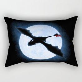 Full Moon Dragon Rectangular Pillow