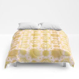 Luxe Rose Gold Star Damask Pattern Seamless Vector Repeat Drawn Comforters