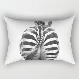 Black and White Zebra Tail Rectangular Pillow