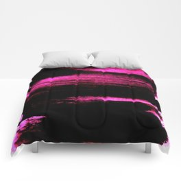 black and pink Comforters