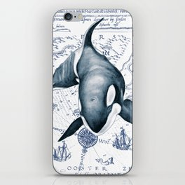 Orca Ancient Map iPhone Skin