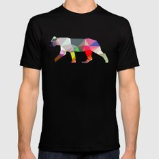 Crystal Lioness Mens Fitted Tee Black LARGE