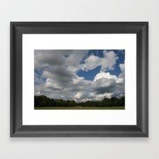 usual sky Framed Art Print
