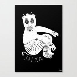The White Demon Canvas Print
