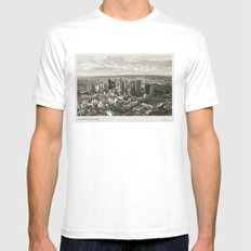 Melbourne City White MEDIUM Mens Fitted Tee