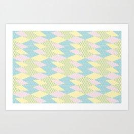 Fifties Spring Geomertry Art Print