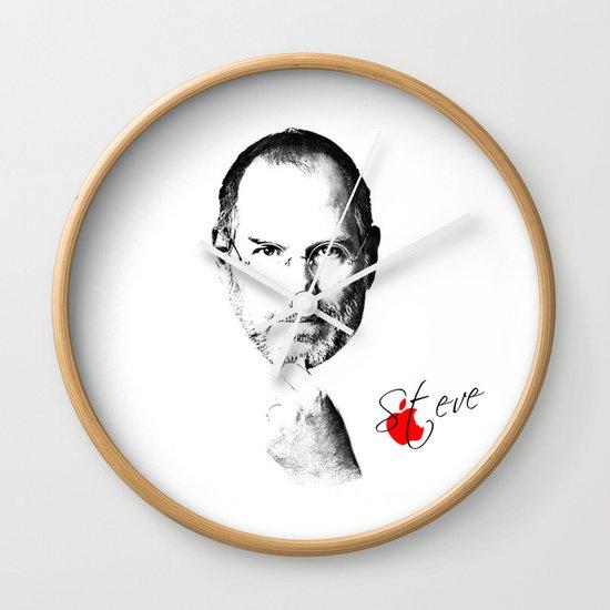 Steve Jobs Wall Clock