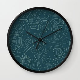 Topographic Map 03A Wall Clock