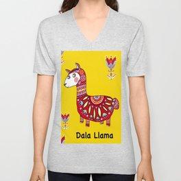 Dala Llama Unisex V-Neck