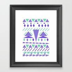 Arctic aztek white Framed Art Print