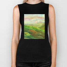 Lines in the mountains XVI Biker Tank