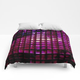 metallic grid Comforters