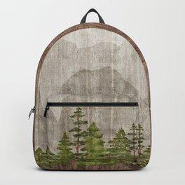 Mountain Range Woodland Forest Backpack