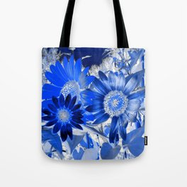 3 Blue Sunflowers Tote Bag