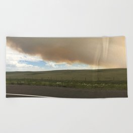 I-25 Storm Beach Towel