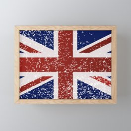 Grunge British Flag Framed Mini Art Print