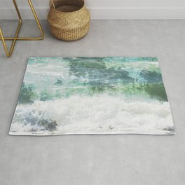 Loving the Waves series - Aqua 1 Rug