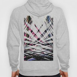 Abstract Tropical Black and Pink Jungle Leaves Hoody